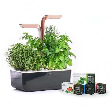 Copper Smart Connect Veritable Organic Veritable Lingot Click & Grow Smart Garden Herbs Herb Grow light self watering planter indoor LED